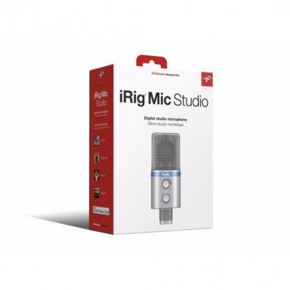 IK MULTIMEDIA iRIG MIC STUDIO DIGITAL STUDIO MICROPHONE FOR iPHONE, iPAD, ANDROID & MAC/PC (IRIGMICSTDSIL IN) - SILVER