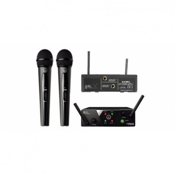 AKG WMS 40 PRO MINI 2 DUAL UHF WIRELESS MICROPHONE SYSTEM (AKG-WMS40-US45A/C)