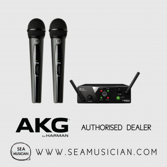AKG WMS 40 PRO MINI 2 DUAL UHF WIRELESS MICROPHONE SYSTEM (AKG-WMS40-US45A/C)