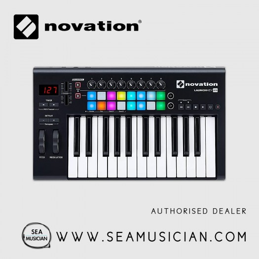 NOVATION LAUNCHKEY 25 USB KEYBOARD CONTROLLER 25-KEYS MK2 VERSION