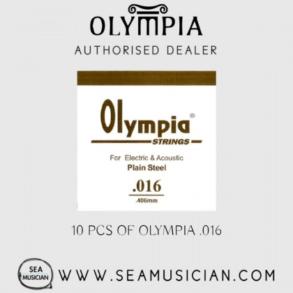 10 PCS OLYMPIA SINGLE STRING 016 FOR ELECTRIC GUITAR & ACOUSTIC (OLYMPIA-016)