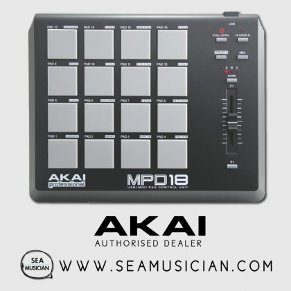 AKAI PROFESSIONAL MPD18 COMPACT PAD CONTROLLER (AKAMPD18)