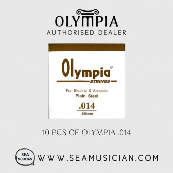 10 PCS OLYMPIA SINGLE STRING 014 FOR ELECTRIC GUITAR & ACOUSTIC (OLYMPIA-014)