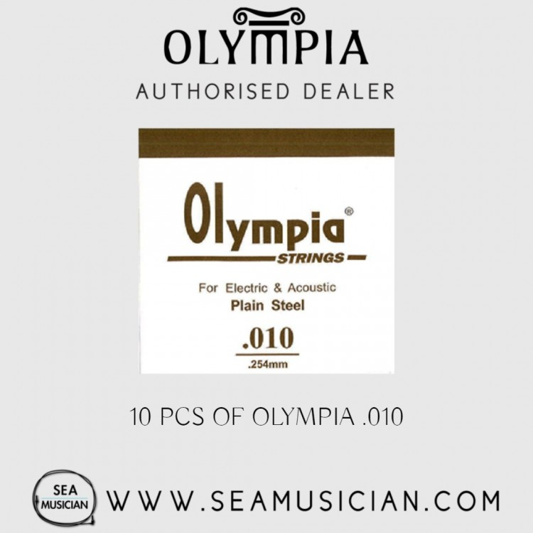 10 PCS OLYMPIA SINGLE STRING 010 FOR ELECTRIC GUITAR & ACOUSTIC (OLYMPIA-010)