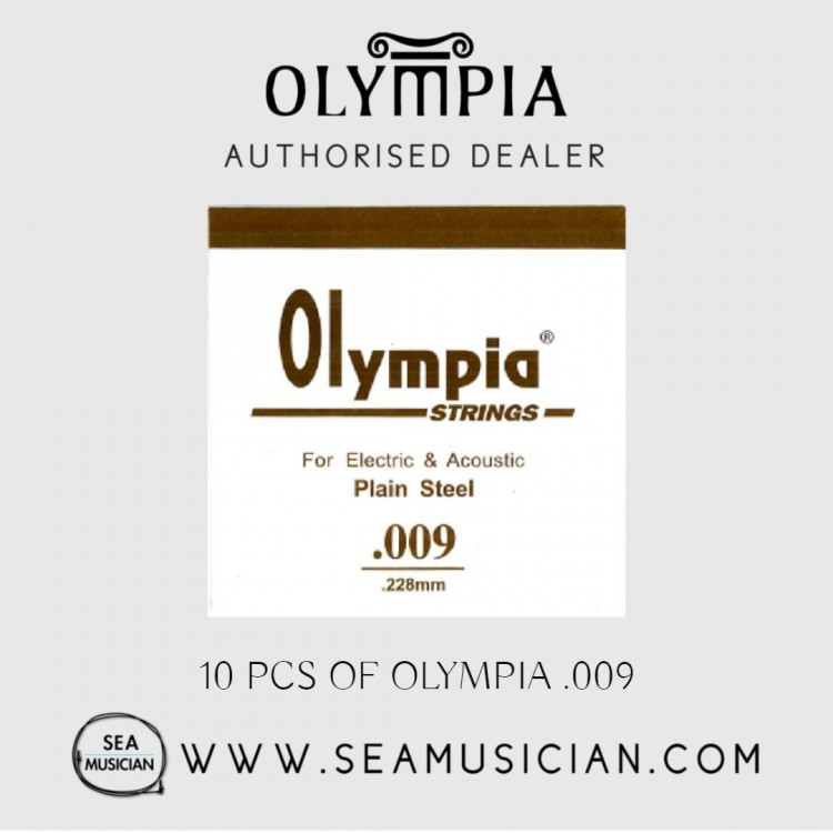 10 PCS OLYMPIA SINGLE STRING 009 FOR ELECTRIC GUITAR & ACOUSTIC (OLYMPIA-009)
