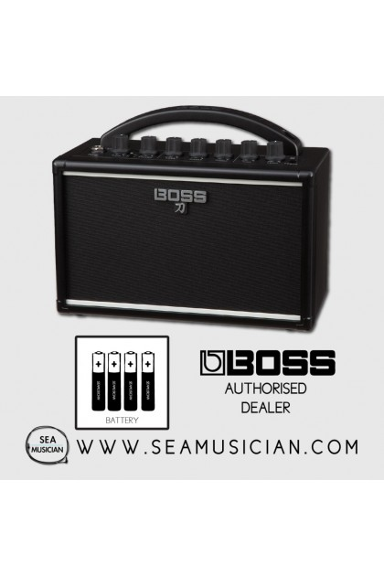 BOSS KATANA MINI BATTERY POWERED GUITAR AMPLIFIER WITH BATTERY - PORTABLE AMP