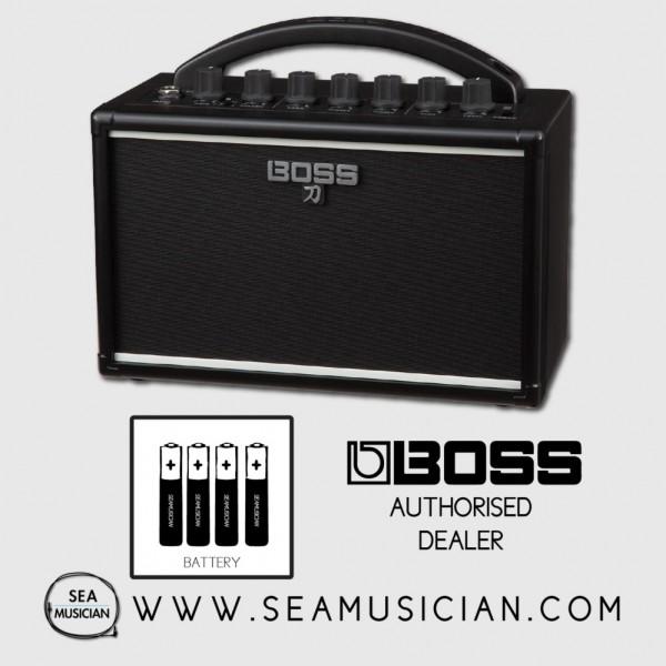 BOSS KATANA MINI BATTERY POWERED GUITAR AMPLIFIER WITH BATTERY - PORTABLE AMP (BOSS-KATANAMINI
