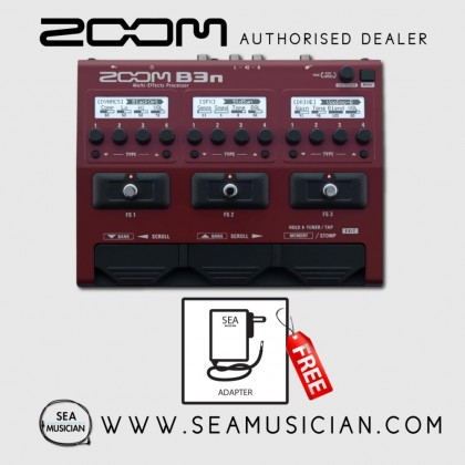 ZOOM B3N BASS MULTI-EFFECTS PROCESSOR  (ZOOM-B3N)