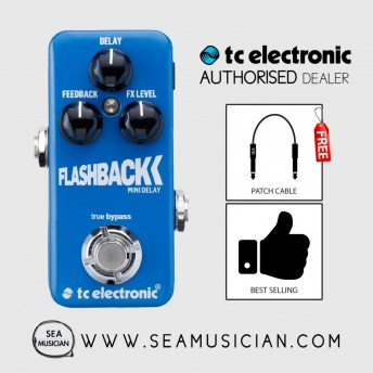 TC ELECTRONIC FLASHBACK MINI EFFECT PEDAL FREE 2 PATCH CABLE (TC-FLASHBACKMINI)