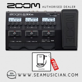 ZOOM G3XN MULTI-EFFECTS GUITAR EFFECT PROCESSOR WITH EXPRESSION PEDAL (ZOOM-G3XN)
