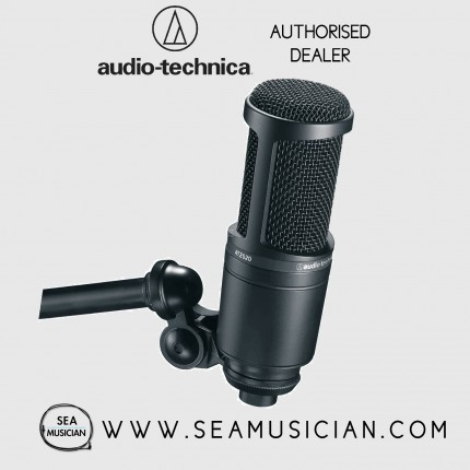 AUDIO-TECHNICA AT2020 CARDIOID CONDENSER STUDIO MICROPHONE (AT2020)