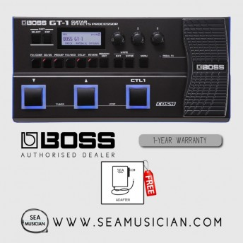 BOSS GT 1 GUITAR MULTI EFFECTS PROCESSOR WITH ADAPTER (BOSS-GT1)