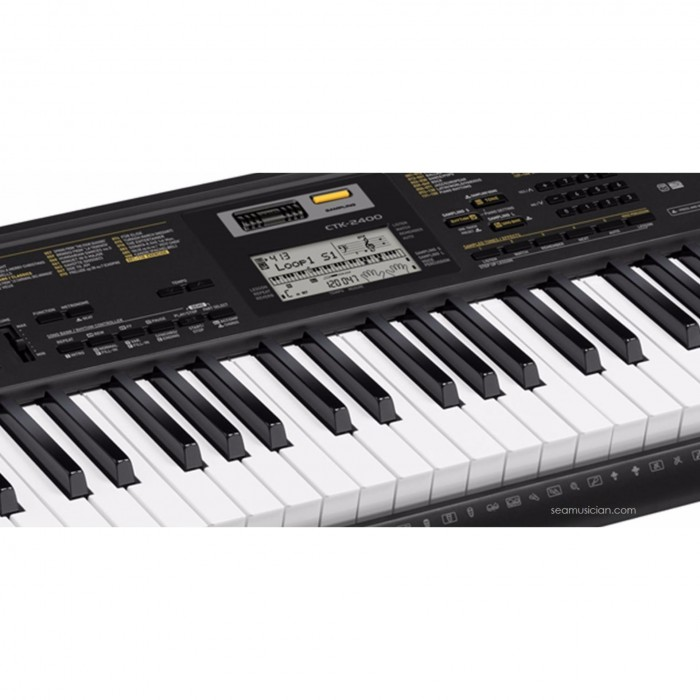 casio ctk 2400 61 keys portable keyboard with bag cas ctk2400. Black Bedroom Furniture Sets. Home Design Ideas