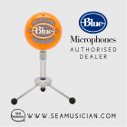 BLUE MICROPHONE SNOWBALL USB CONDENSER MICROPHONES ORANGE (B06-SNOWBALL-Orange)