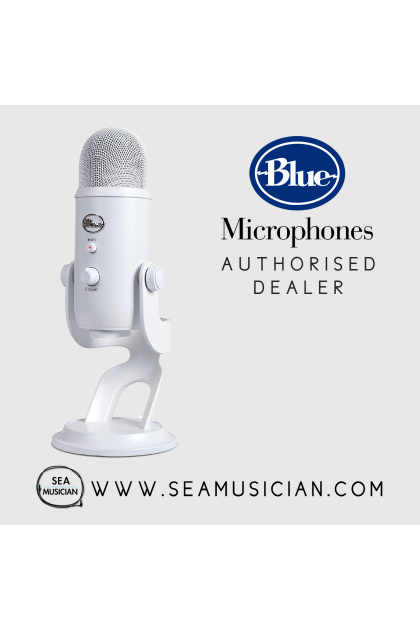 BLUE MICROPHONES YETI USB CONDENSER RECORDING MICROPHONE - WHITEOUT (B06-YETI-White)