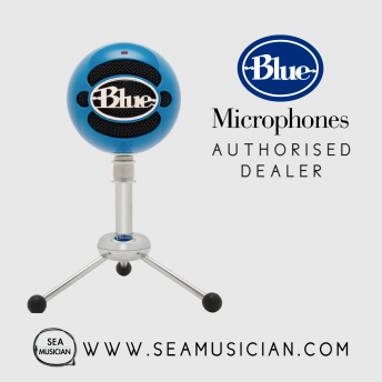 BLUE MICROPHONE SNOWBALL USB CONDENSER MICROPHONES ELECTRIC BLUE (B06-SNOWBALL BLUE)