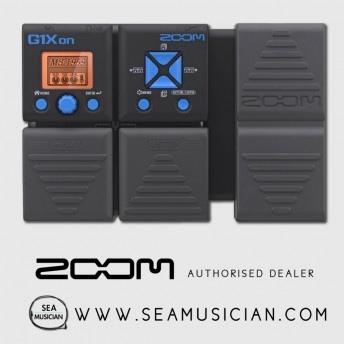 ZOOM G1XON GUITAR MULTI EFFECTS WITH EXPRESSION PEDAL (ZOOM-G1XON)