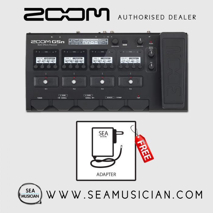 zoom g5n guitar multi effects processor with expression pedal 200 effect 9 fx at once aux in usb. Black Bedroom Furniture Sets. Home Design Ideas