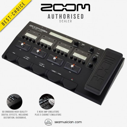 ZOOM G5N GUITAR MULTI-EFFECTS PROCESSOR WITH EXPRESSION PEDAL