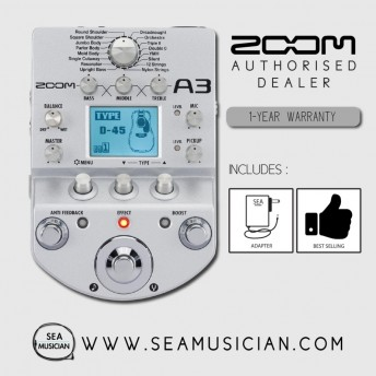 *DISCONTINUED* ZOOM A3 PRE-AMP & EFFECTS FOR ACOUSTIC GUITAR (ZOOM-A3)