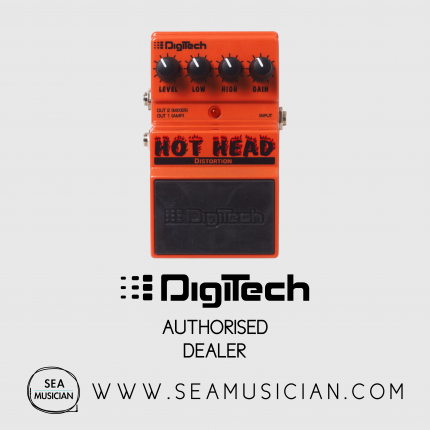 DIGITECH HOT HEAD DISTORTION PEDAL WITH CABINET EMULATION (DIGDHHV)