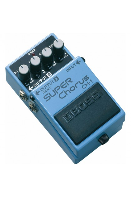 BOSS CH-1 STEREO SUPER CHORUS GUITAR EFFECT PEDAL W/ FREE PATCH CABLES
