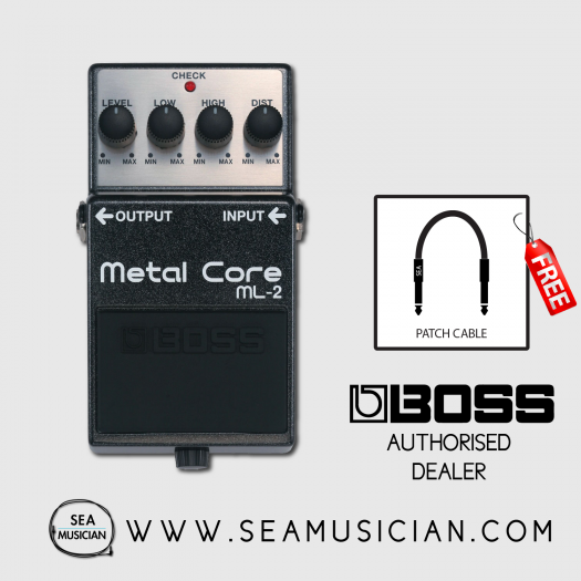 BOSS ML2 METAL CORE DISTORTION EFFECT GUITAR PEDAL W/ FREE PATCH CABLE