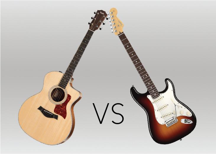guitars acoustic vs electric. Black Bedroom Furniture Sets. Home Design Ideas